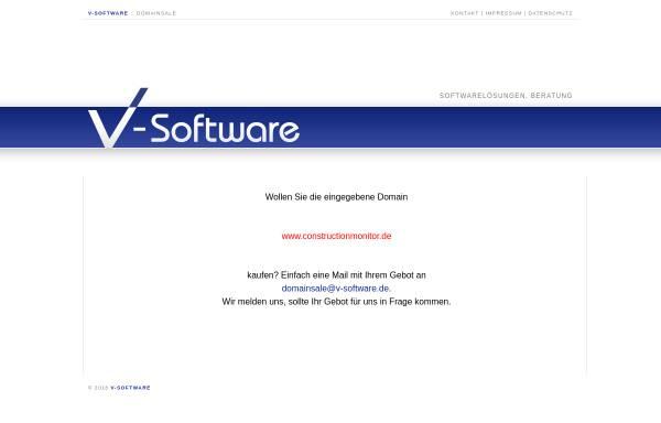Vorschau von www.constructionmonitor.de, Infront Software GbR
