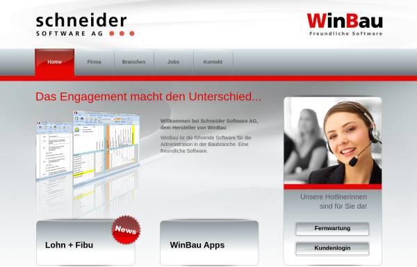 Vorschau von www.winbau.ch, Schneider Software AG