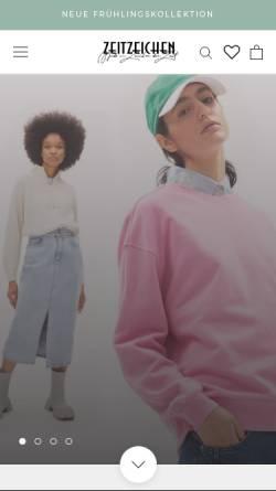 Vorschau der mobilen Webseite www.zeitzeichen.com, Zeitzeichen Handels GmbH