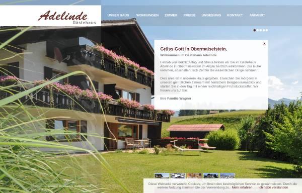 Vorschau von www.adelinde.de, Gästehaus Adelinde