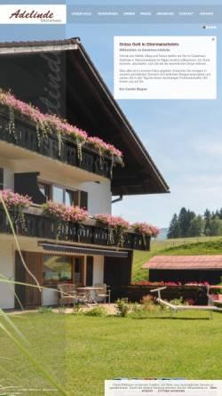 Vorschau der mobilen Webseite www.adelinde.de, Gästehaus Adelinde