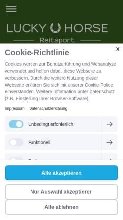 Vorschau der mobilen Webseite www.lucky-horse-reitsport.de, Lucky Horse