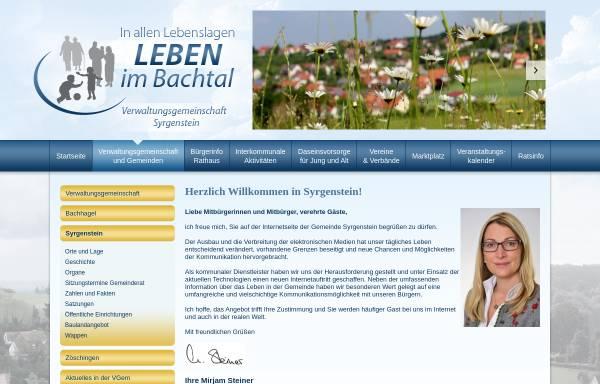 Vorschau von www.syrgenstein.de, Verwaltungsgemeinschaft Syrgenstein