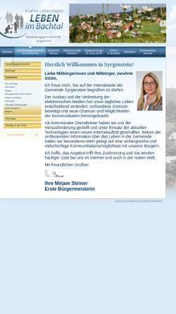 Vorschau der mobilen Webseite www.syrgenstein.de, Verwaltungsgemeinschaft Syrgenstein
