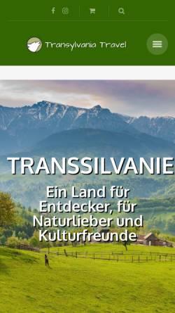 Vorschau der mobilen Webseite transylvaniatravel.net, TransylvaniaTravel