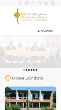 Vorschau der mobilen Webseite www.freie-evangelische-bekenntnisschule.de, Freie Evangelische Bekenntnisschule