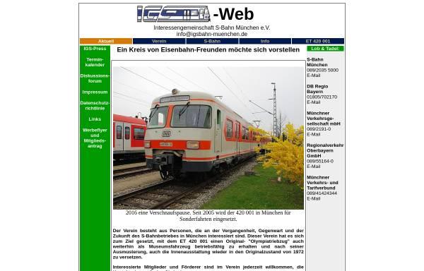 Vorschau von www.igsbahn-muenchen.de, Interessengemeinschaft S-Bahn München e.V.