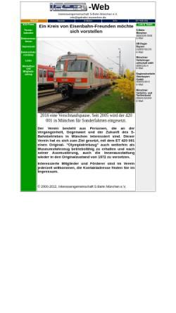 Vorschau der mobilen Webseite www.igsbahn-muenchen.de, Interessengemeinschaft S-Bahn München e.V.