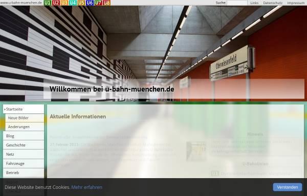 Vorschau von www.muenchnerubahn.de, Münchner U-Bahn-Portal
