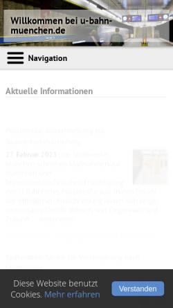 Vorschau der mobilen Webseite www.muenchnerubahn.de, Münchner U-Bahn-Portal