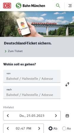 Vorschau der mobilen Webseite www.s-bahn-muenchen.de, S-Bahn München GmbH