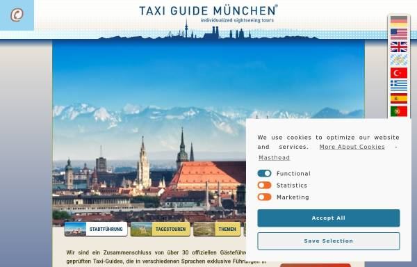 Vorschau von taxi-guide-muenchen.de, Taxi Guide München e.V.