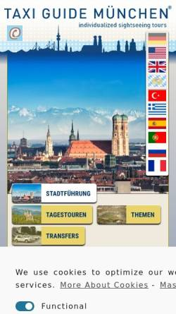 Vorschau der mobilen Webseite taxi-guide-muenchen.de, Taxi Guide München e.V.