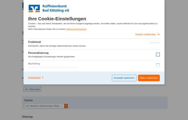 Vorschau von www.rb-koetzting.de, Raiffeisenbank Kötzting eG