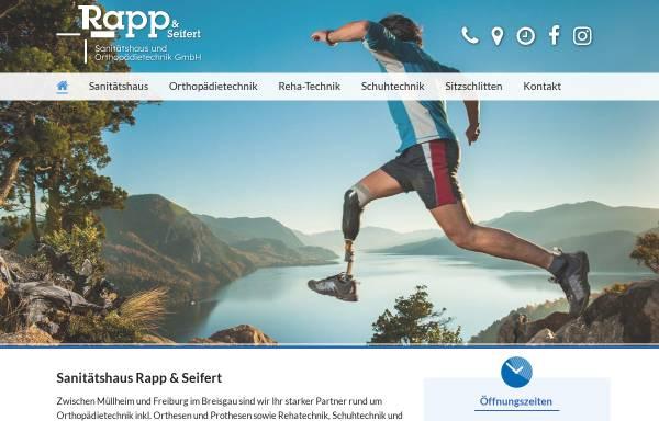 Vorschau von www.rapp-und-seifert.de, Rapp & Seifert Sanitätshaus und Orthopädietechnik GmbH