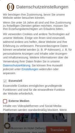 Vorschau der mobilen Webseite www.hotel-oelberg.de, Hotel Ölberg Garni