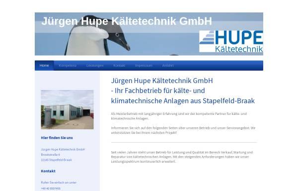 Vorschau von www.hupe-kaeltetechnik.de, Jürgen Hupe Kältetechnik GmbH