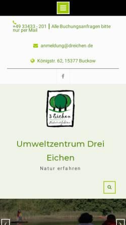 Vorschau der mobilen Webseite www.dreichen.de, Drei Eichen