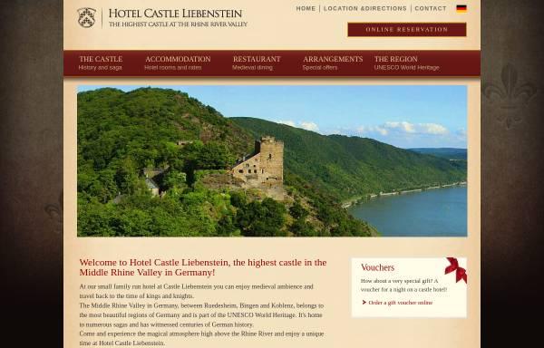 Vorschau von www.castle-liebenstein.com, Hotel - Restaurant - Café Burg Liebenstein