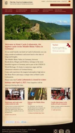 Vorschau der mobilen Webseite www.castle-liebenstein.com, Hotel - Restaurant - Café Burg Liebenstein