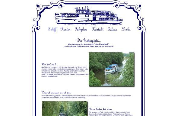 Vorschau von www.uckerperle.de, Fahrgastschifffahrt Herbon