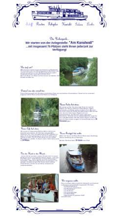 Vorschau der mobilen Webseite www.uckerperle.de, Fahrgastschifffahrt Herbon