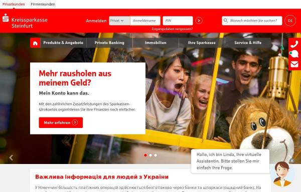 Vorschau von www.ksk-steinfurt.de, Kreissparkasse Steinfurt