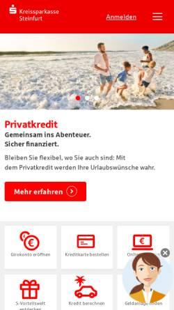 Vorschau der mobilen Webseite www.ksk-steinfurt.de, Kreissparkasse Steinfurt