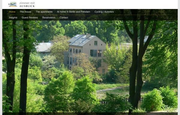 Vorschau von www.zimmer-mit-ausblick.net, Ferienwohnung in Potsdams Parklandschaft