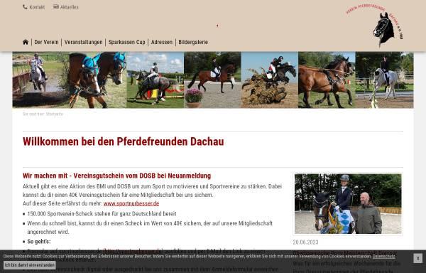 Vorschau von www.pferdefreunde-dachau.de, Verein Pferdefreunde Dachau e.V.