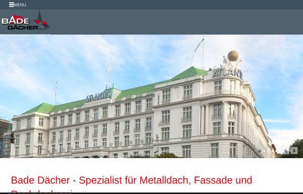 Vorschau von www.bade-daecher.de, Hermann Bade GmbH + Co. KG