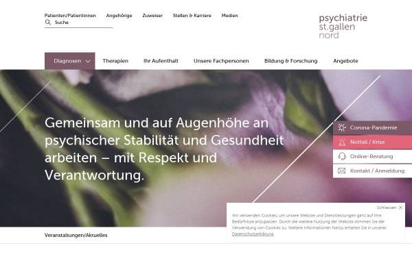 Vorschau von www.psychiatrie-nord.sg.ch, Psychiatrische Dienste Kanton St. Gallen