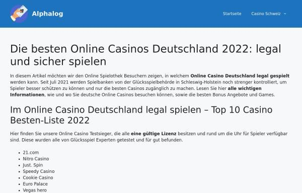 Vorschau von alphalog.de, Alphalog design-studio