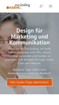 Vorschau der mobilen Webseite www.evakraeling.de, Eva Kräling