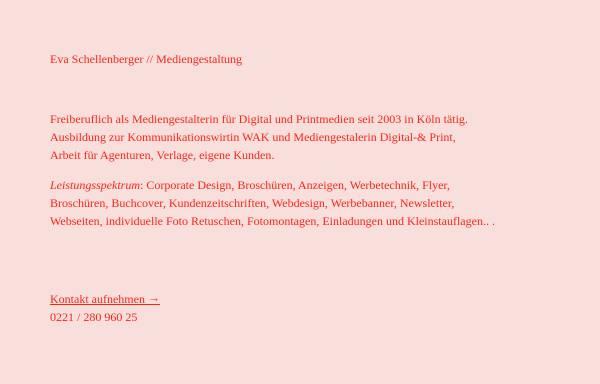 Vorschau von www.eva-schellenberger.de, Eva Schellenberger - Kommunikationsdesign