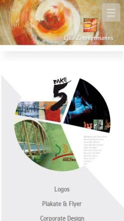 Vorschau der mobilen Webseite www.lisazimmermanns.de, Lisa Zimmermanns Grafik Design