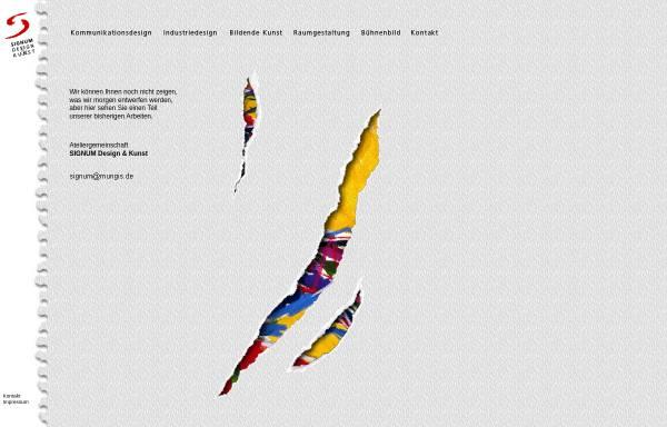 Vorschau von www.mungis.de, Signum Design und Kunst