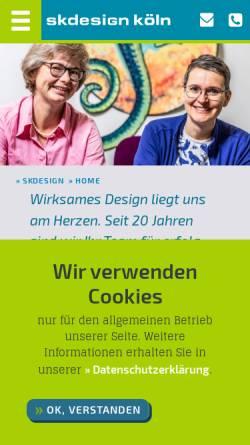 Vorschau der mobilen Webseite www.skdesign-koeln.de, skdesign köln | Grafikdesign und Webdesign