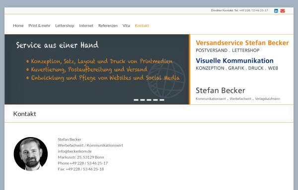 Vorschau von beckerkom.de, Stefan Becker Visuelle Kommunikation