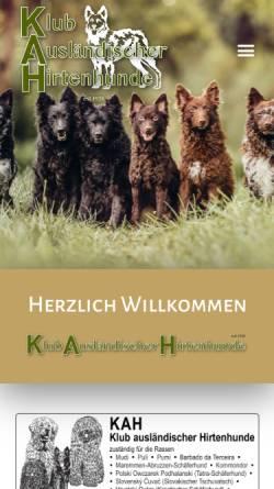 Vorschau der mobilen Webseite www.hirtenhunde.ch, KAH