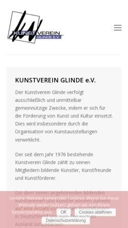 Vorschau der mobilen Webseite www.kvglinde.de, Kunstverein Glinde e.V.