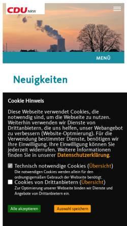 Vorschau der mobilen Webseite www.cdu-datteln.de, CDU-Stadtverband Datteln