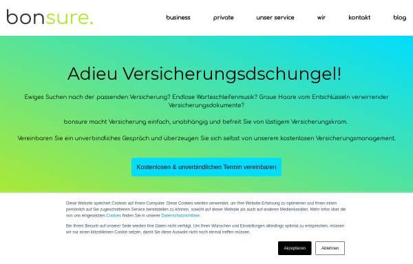 Vorschau von www.bonsure.com, BonSure GmbH Versicherungsmakler