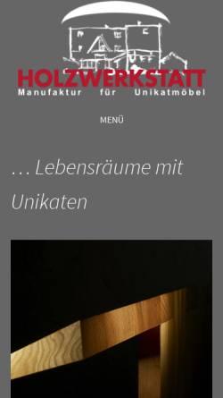 Vorschau der mobilen Webseite www.holzwerkstatt-frankelbach.de, Holzwerkstatt Frankelbach