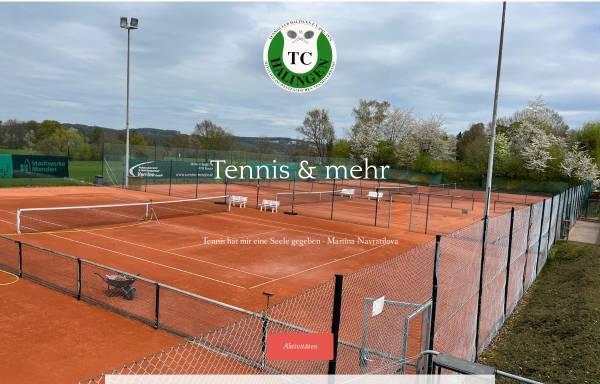 Vorschau von www.tc-halingen.de, TC Halingen e.V