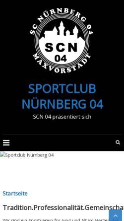 Vorschau der mobilen Webseite www.sportclub-nuernberg04.de, Sportclub Nürnberg 04 e.V.