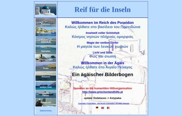 Vorschau von www.griechische-inseln.org, Reif für die Inseln [Frank Möhn]
