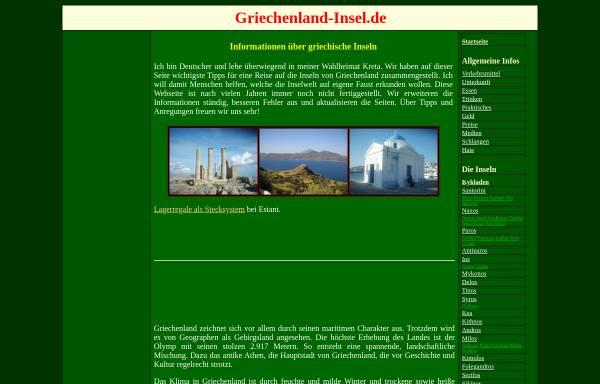 Vorschau von www.griechenland-insel.de, Reiseführer Griechische Inseln [Jörg Schäufele]