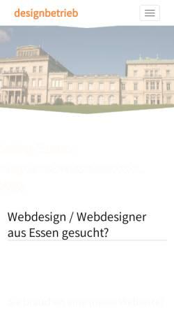 Vorschau der mobilen Webseite www.designbetrieb.de, Designbetrieb Michael Jauernig