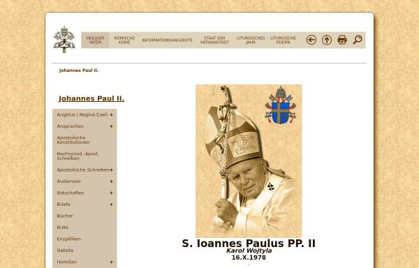 Vorschau von www.vatican.va, Der Heilige Vater Johannes Paul II